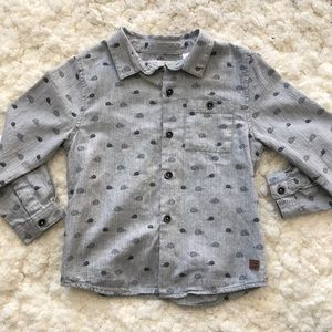 Zara baby grey long sleeve button down 3-4 years